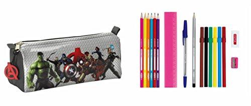 Avengers – Portatodo lleno, 17 piezas, 20 x 9 cm (Safta 811527708)