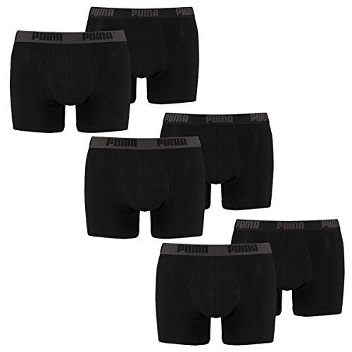 PUMA Herren Boxershorts Unterhosen 521015001 6er Pack , Wäschegröße:XXL;Artikel:Black