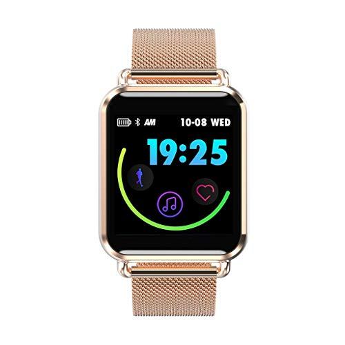 Haludock Herzfrequenzmesser Tracker, Fitness-Tracker, IP67 wasserdicht Aktivität Tracker Watch, mehrsprachige Smart Armband Aktivität Tracker Bluetooth-Schrittzähler mit Schlaf-Monitor Smartwatch 64 Zone Control Panel