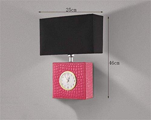 FCXBQ Die Ökonomie der Energie Lampe verstellbare Wand - Leder minimalistische Led Uhr Lounge Schlafzimmer Nachttischlampe Wandlampe Wandlampe Wandlampe des Ganges (Nicht-Amerikanisch: Die Lichtqu
