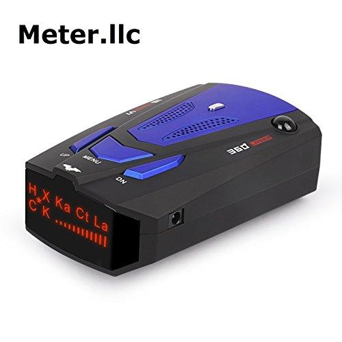 Radar Detektor, Voice Alert und Geschwindigkeit Alarm System mit 360Grad, City/Highway Mode Radar-Detektoren für Autos (FCC Qualifizierten)