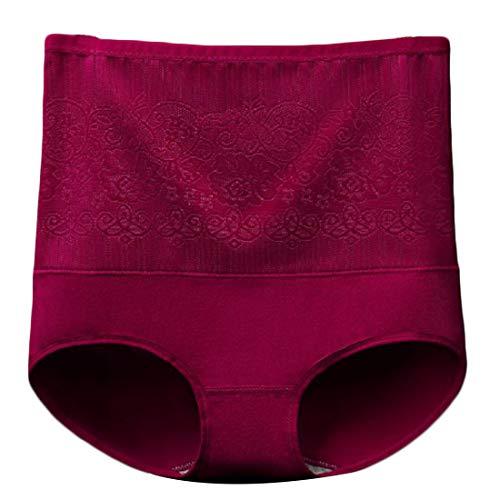 Aiweijia Frauen drucken Postpartale Bauch Kontrolle Körper schützende 5er Pack hohe Taille schlank sexy Slip - 5