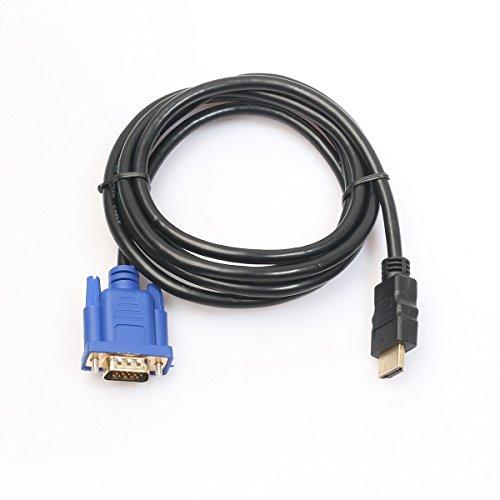 ULTNICE VGA Kabel 3M HDMI Gold-Stecker auf VGA Monitor Kabel(ohne eingebauter Chip) - Anschluss Hddb15 15-polig