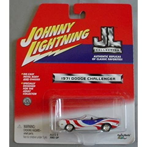 Johnny Lightning JL Collection 1971 Dodge Challenger RED WHITE BLUE Convertible by Playing Mantis