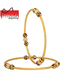 Pchalk Designer Jewellery Gold Plated Partywear Collection Bangles Set For Women And Girls