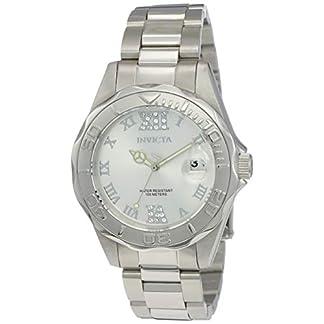 Invicta 12851 Pro Diver Reloj para Mujer acero inoxidable Cuarzo Esfera plata
