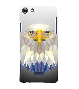 3D Vector Owl 3D Hard Polycarbonate Designer Back Case Cover for Micromax Canvas Selfie 3 Q348