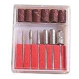 Qewmsg 6PCS Professionelle elektrische Bohrmaschinen File Cutter Nail Art Bohrer Kit für Nagel-Maniküre-Maschinen-Werkzeug-Set