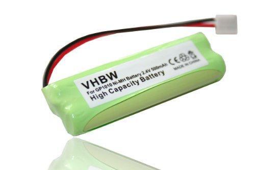 vhbw Ni-MH Akku 500mAh (2.4V) für Festnetz Telefon Medion MD82622, MD83001, MD83022, MD83091, MD83166, MD83274, MD83542 wie VT50AAAALH2BMJZ, GP1010.