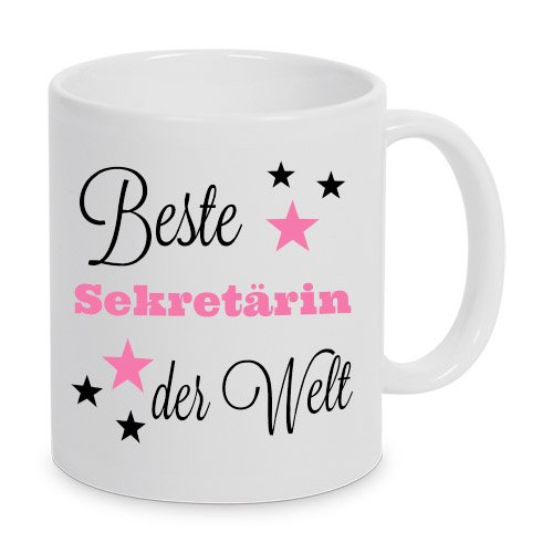 Beste Sekretärin der Welt - Tasse - Kaffeetasse - Tasse mit Spruch