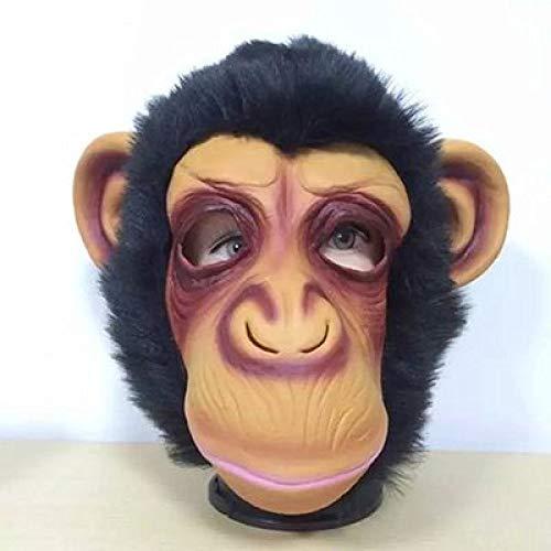 LIJING Maske Halloween Masken Lustige AFFE Vollgesichtsmasken Erwachsene Affen Atmungsaktive Halloween Maskerade Kostüm Cosplay Party Requisiten