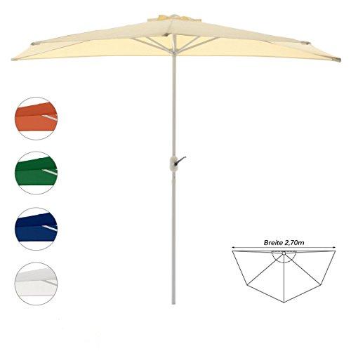Nexos Sonnenschirm, beige, 270x140 cm oval, Gestell Stahl, Bespannung Polyester, 5 kg