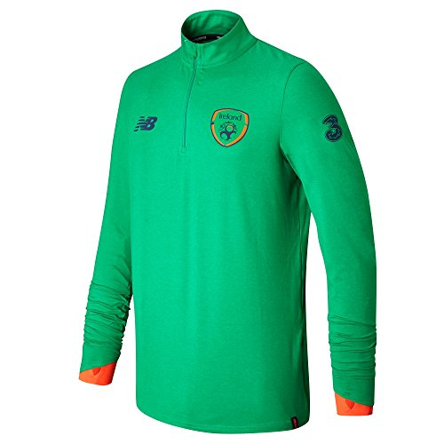New Balance Offical Fai Merchandise Ireland Elite Training Mid-Layer Haut Homme, Green, Taille Unique