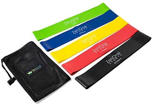 ZenLoops Fitnessbänder Set I 5 Trainingsbänder inkl. GRATIS E-BOOK, Workout-Guide & Tasche I Das Premium Dehnband Resistance Band Set für effektives Training Zuhause
