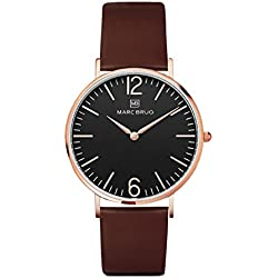 Marc Brüg Ladies' Minimalist Watch Mayfair 36 Black Rosegold