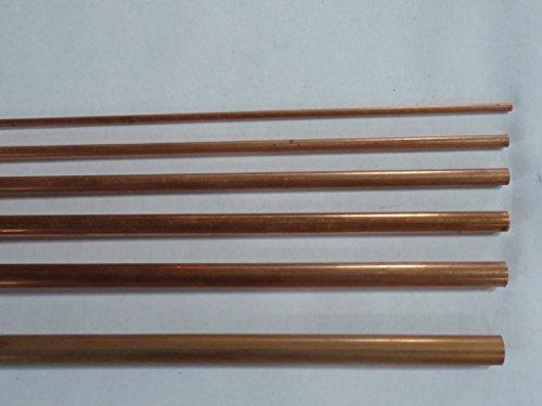 Preisvergleich Produktbild Kupferrohr, halbhart verschiedene Durchmesser , Wandstärke 0,5 mm, Länge 1 m (3x0,5 mm)