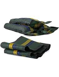 Ampel 24, Sacs de lestage avec poignée et cordon | lot de 6 sacs vides tissés en monofibre | contrepoids pour jardin ou camping