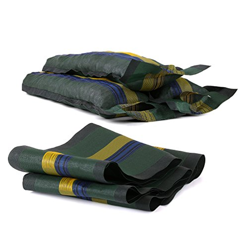 Ampel 24 Beschwerungssäcke mit Tragegriff & Zugband, 6er Set Sandsäcke leer aus Monofil, Wasser- und Sturmsicherung für Trampolin, Camping, Garten
