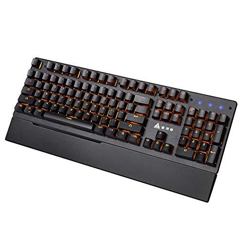 XIAZI Grüne Welle Mechanische Tastatur Metalltafel 104 Tastenfederung Atemlicht Computerführung