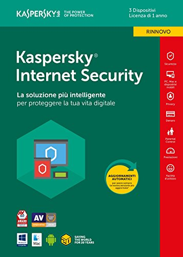 Kaspersky Lab KL1941T5CFR-8SLIM Internet Security 2018 3 User Renewal  1 Year