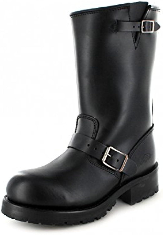 FB Fashion Boots Buffalo Boots 1808 Black Bikerstiefel für Damen und Herren Schwarz EngineerstiefelFB Fashion Boots Bikerstiefel Engineerstiefel