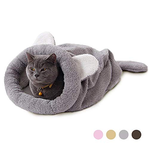 ea5cf0772e4e Eono Essentials Cat Sleeping Bag Pet Pouch Soft Warm Washable Cat Bed  Windproof Snuggle Sack Blanket