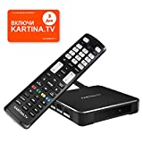 Kartina X - IPTV Receiver für Kartina.TV - Russisches Fernsehen - 4k Ultra HD 1080p 4Kp603D HEVC H.265 HDMI Micro SD USB Ethernet - Linux + Android TV-175K Картина ТВ