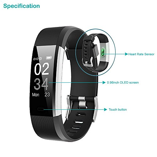41aYIXZdDjL. SS500  - YAMAY Fitness Trackers,Fitness watch with Heart Rate Monitor Waterproof IP67 Smart Watches Pedometer Watch Activity Trackers Watch Step Counter for Kids Women Men Call SMS Push for iOS Android Phone