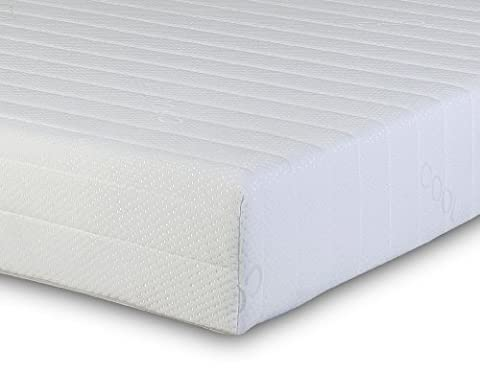 Visco Therapy Memory Foam and Reflex 3 Zone Rolled New and Improved Mattress with Quilted Maxi-Cool Cover and 2 Pillows - Double
