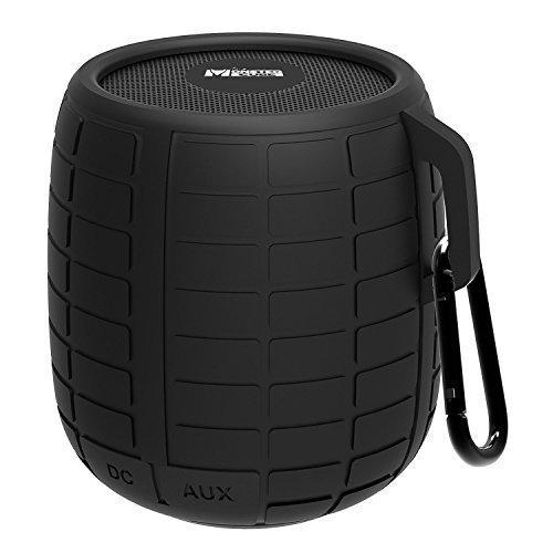 Monstercube Portable Lautsprecher, Bluetooth Außen-Lautsprecher, Wireless Speaker für Handy mit integrierten Mikrofon, Schwarz
