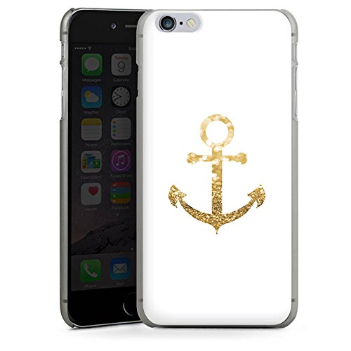 Apple iPhone 7 Hülle Case Handyhülle Anker Gold Sommer Hard Case anthrazit-klar