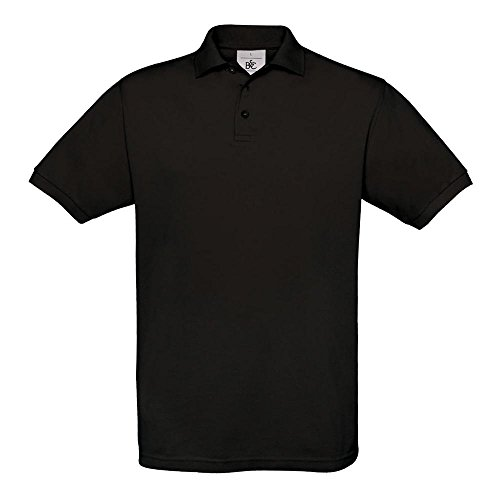 B&C - Piqué Poloshirt 'Safran' XXL,Black (Erwachsene Schwarz Polo)