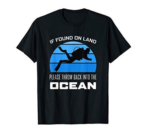 Scuba Diver Silhouette Diving Love Dive Lustiges Zitat Ozean T-Shirt (Scuba Tauchen T-shirts)