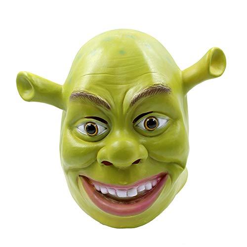Ydq Halloween Shrek Maske Latex Voller Kopf Grün Horror Cosplay Masquerade Film Thema Kopf Abdeckung