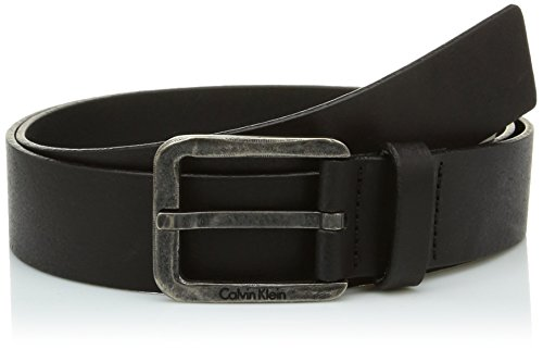 Calvin Klein Jeans LUCA BELT-Cintura Uomo, Nero, 95 (Taglia produttore:001)