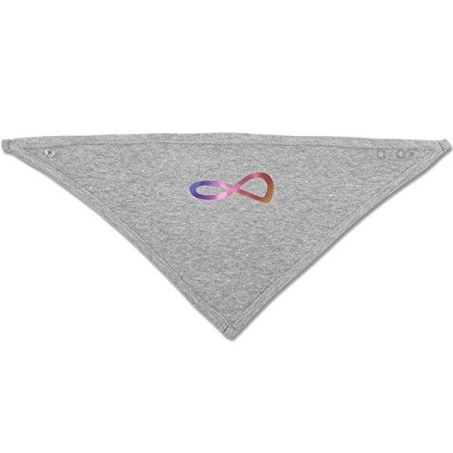 Up to Date Baby - Unendlich Forever Regenbogen - Unisize - Grau meliert - BZ23 - Baby-Halstuch als Geschenk-Idee für Mädchen und Jungen