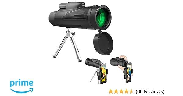 Ieleacc 10x50 monokular teleskop mit handy halterung hd: amazon.de