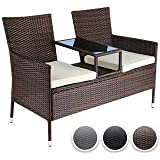 Virasat Furniture/Garden Furniture/Balcony Furniture Set for Outdoor/Indoor Use Two seater chair with glass stand/Color-Brown