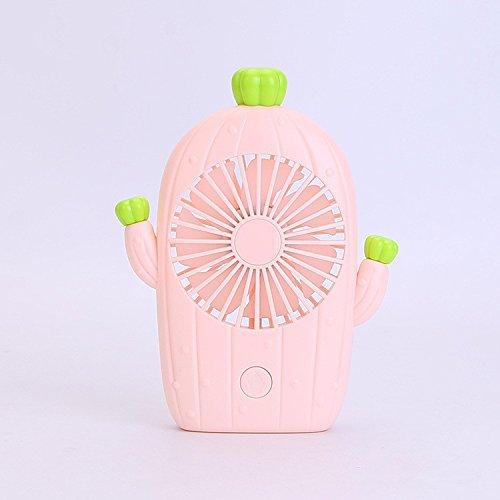 XXMT USB-Schnittstelle Fan Schlafzimmer Büro Fan Mini-Cartoon-Fan, Pink