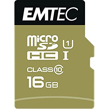 Emtec microSDHC 16GB UHS1 U1 EliteGold: Amazon.es: Informática