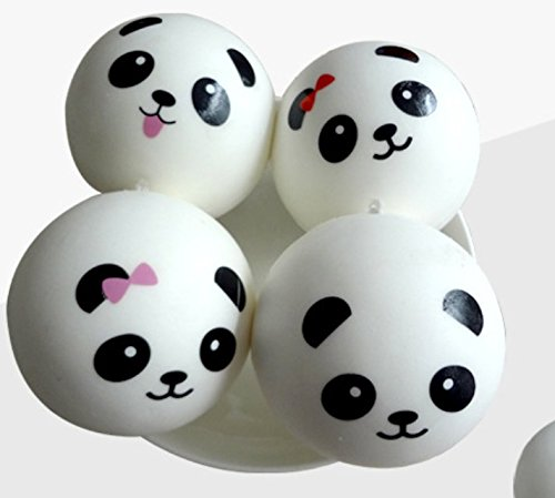 Welecom 3 Pieces Slow Rising Mini Panda Scented Squishy Toys Cute Squishies Charms Phone Key Chain Straps Kids Toy Gift Party Favors