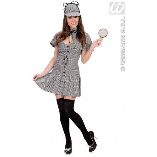 Kostüm Detektiv Damen - Widmann-WDM72043 Erwachsenenkostüm für Damen, Grau und Schwarz, WDM72043