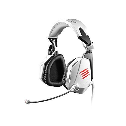 Preisvergleich Produktbild Mad Catz F.R.E.Q.7 Dolby 7.1 Surround-Sound-Gaming-Headset für PC,  weiß glänzend (3, 5mm Klinkenstecker,  2m USB-Kabel,  inkl. Headsetständer) (Zertifiziert und Generalüberholt)