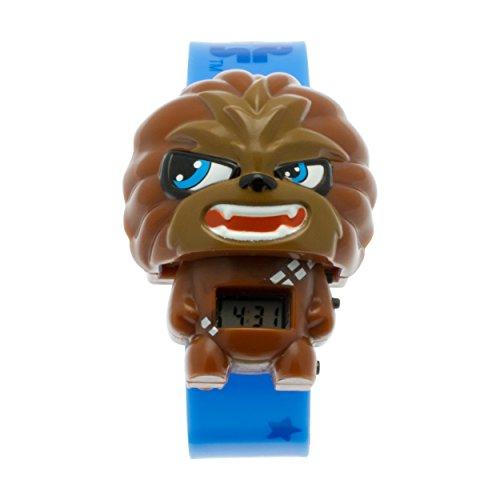 Reloj con luz infantil BulbBotz con figurita de Chewbacca de La guerra de las galaxias | marrón/negro| plástico | digital | Pantalla LCD | chico chica | oficial