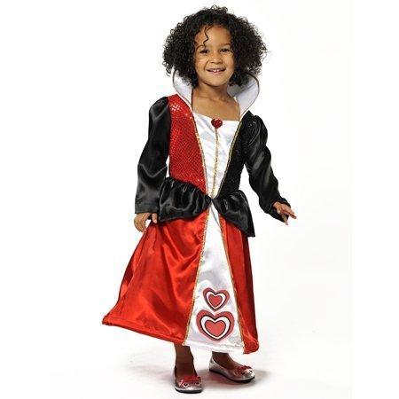 QUEEN OF HEARTS GIRLS FANCY DRESS COSTUME - ALICE IN WONDERLAND 5-7 by GEORGE (Für Queen Bee Kinder Kostüme)