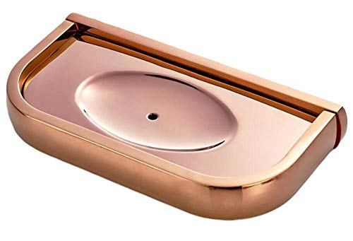 Wangc Seifenhalter für Badezimmer, Kupfer, Seifenschale, Seifenhalter, Reine Kupfer-Hardware C