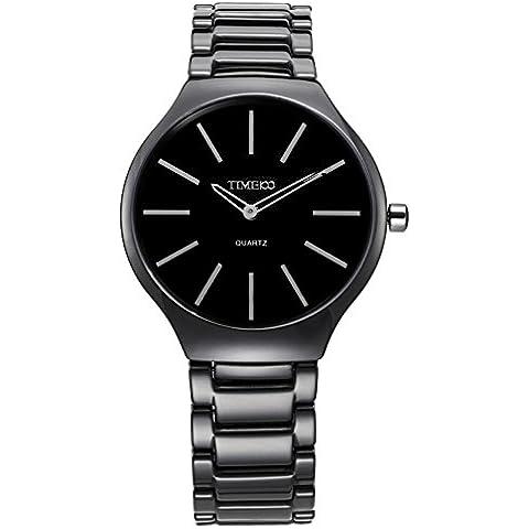 Time100 W50173M, 02A Ultra delgada de la manera Simple de cerámica reloj de las mujeres (de tamaño