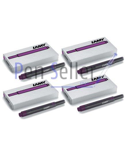 Lamy T10: Vier Päckchen mit 5 Tintenpatronen, Farbe: violett (insgesamt 20 Tintenpatronen)