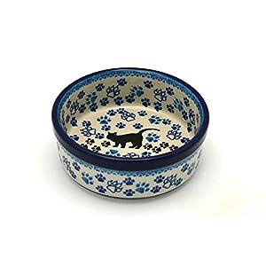 Polish Pottery Pet Dish – 10 oz. – Boo Boo Kitty