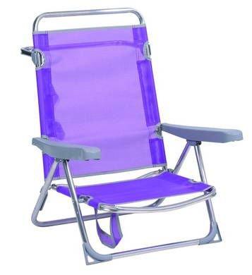 Alco 607 alf-0127 Chaise/lit Plage Fibreline avec ASA, lilas, 71 x 65 x 15.5 cm